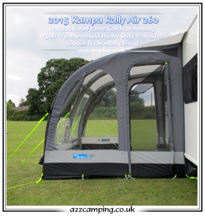 New 2016 Series 2 Kampa Rally Air 260 Large Caravan Porch